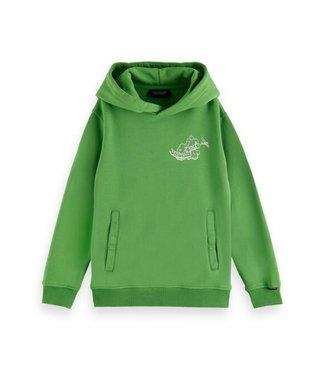 Scotch & Soda Oversized-fit hoodie power green