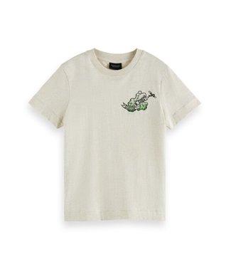 Scotch & Soda Relaxed-fit ss T-shirt ecru