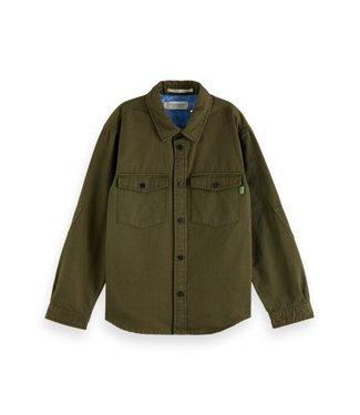 Scotch & Soda Twill ls utility shirt army