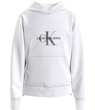 Calvin Klein REPTILE SKIN MG SWEAT BRIGHT WHITE