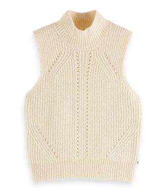 Scotch & Soda Chunky sleeveless knit ecru