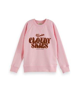 Scotch & Soda Relaxed-fit sweatshirt sky pink