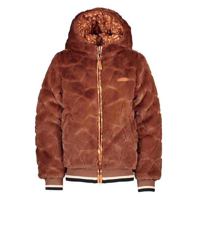 NONO Bombai reversible hooded bomber jacket puppy