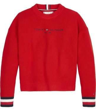 Tommy Hilfiger ESSENTIAL LOGO SWEATER RED