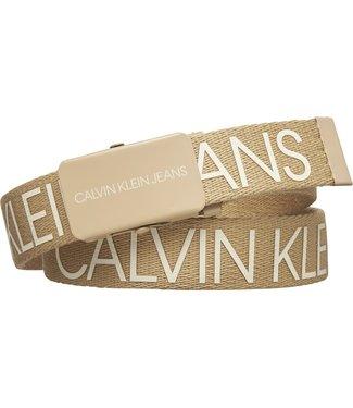 Calvin Klein CANVAS LOGO BELT STONE F21