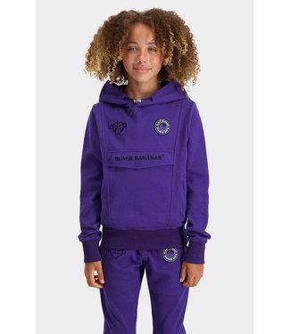 Black Bananas Jr Grl Anorak Arcade Hoody purple/black