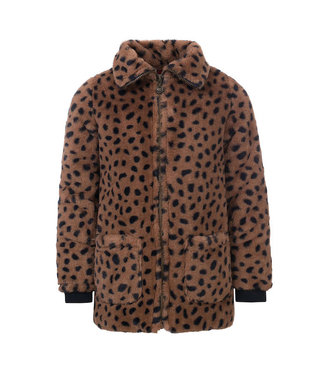 LOOXS LITTLE Jacket cheeta fur