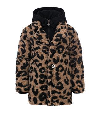 LOOXS 10SIXTEEN Long teddy panther coat big jaguar