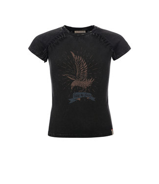 LOOXS 10SIXTEEN Washed T-shirt acid black