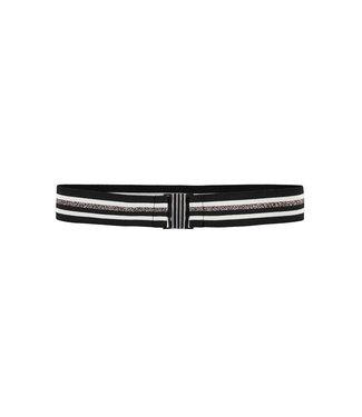 LOOXS 10SIXTEEN Lurex stripe belt off black