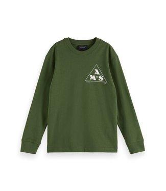 Scotch & Soda LsT-shirt military