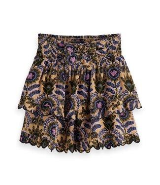 Scotch & Soda AOP layered skirt combo B