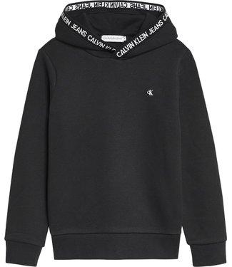 Calvin Klein INTARSIA LOGO HOODIE BLACK