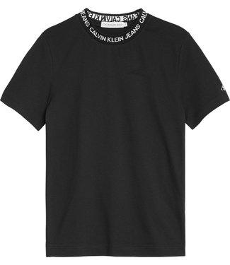 Calvin Klein INTARSIA LOGO T-SHIRT BLACK