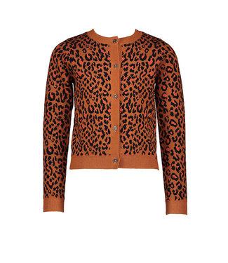 NONO Aysa leopard AOP vest caramel