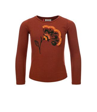 LOOXS LITTLE Little t-shirt l. sleeve brick