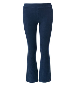 LOOXS 10SIXTEEN Flare rib velours pants deep blue
