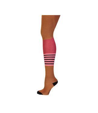 NONO Reeva tight with stripes at knee caramel