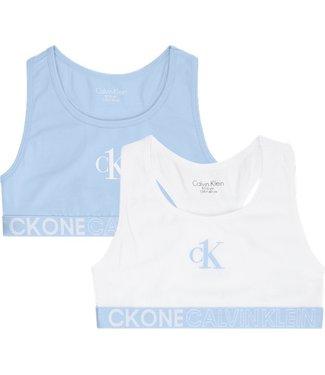 Calvin Klein 2PK BRALETTE CHAMBRAY/WHITE