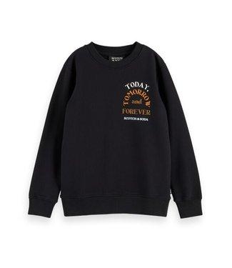 Scotch & Soda Regular-fit artwork sweater black