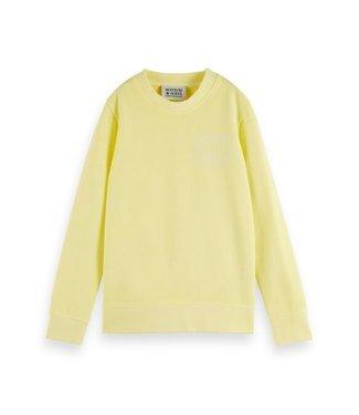 Scotch & Soda Regular-fit artwork sweater yellow