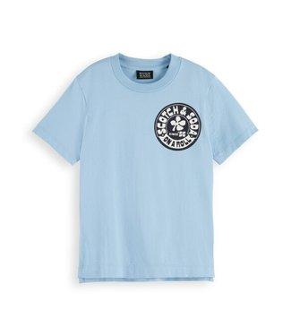 Scotch & Soda Regular-fit artwork T-shirt fifties blue