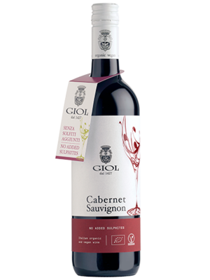 Giol Cabernet Sauvignon 2018,  zonder toegevoegd sulfiet