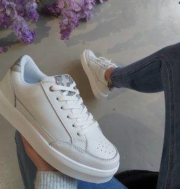Lederen witte sneakers