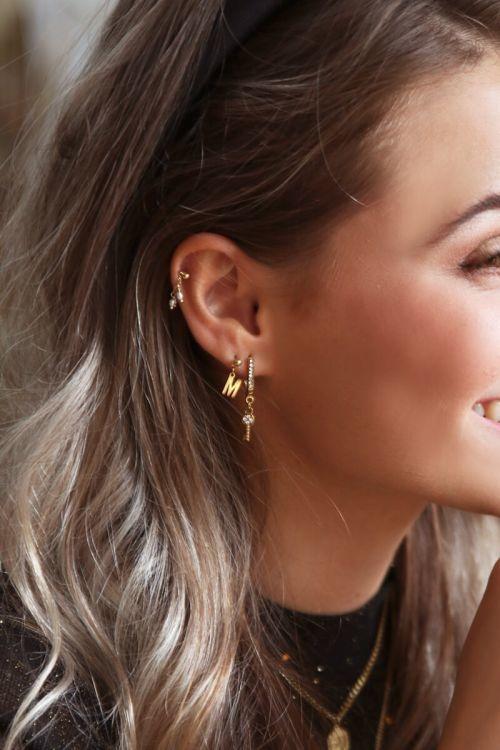 My Jewellery earstuds met letter