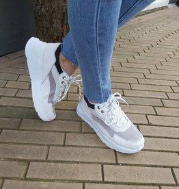 Sneakers wit / grijs