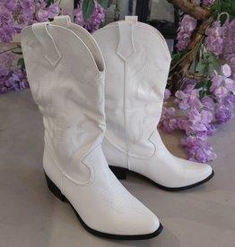 Cowboy laarzen wit