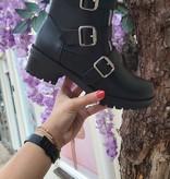 Zwarte laarzen met ritsen