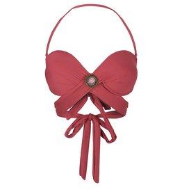 BOHO Bikini Top Bandeau Wrapped - Burgundy