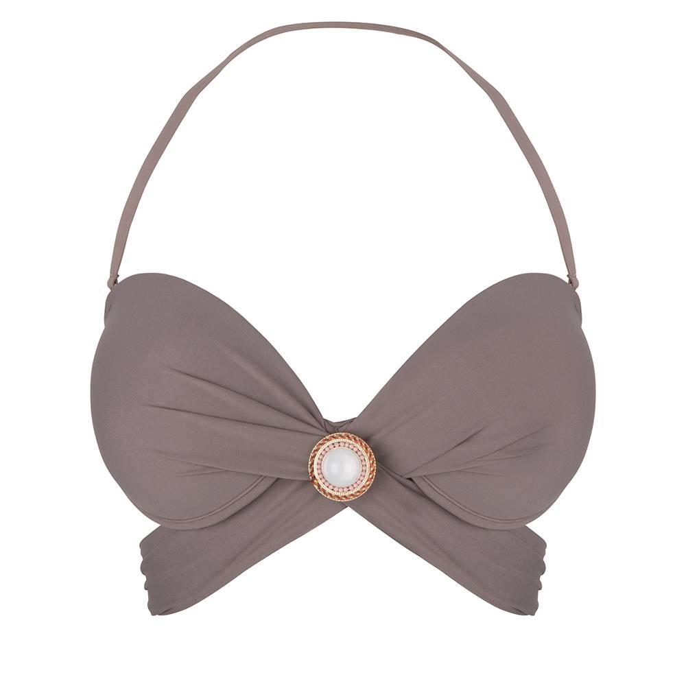 BOHO Bikini Top Bandeau Wrapped - Taupe
