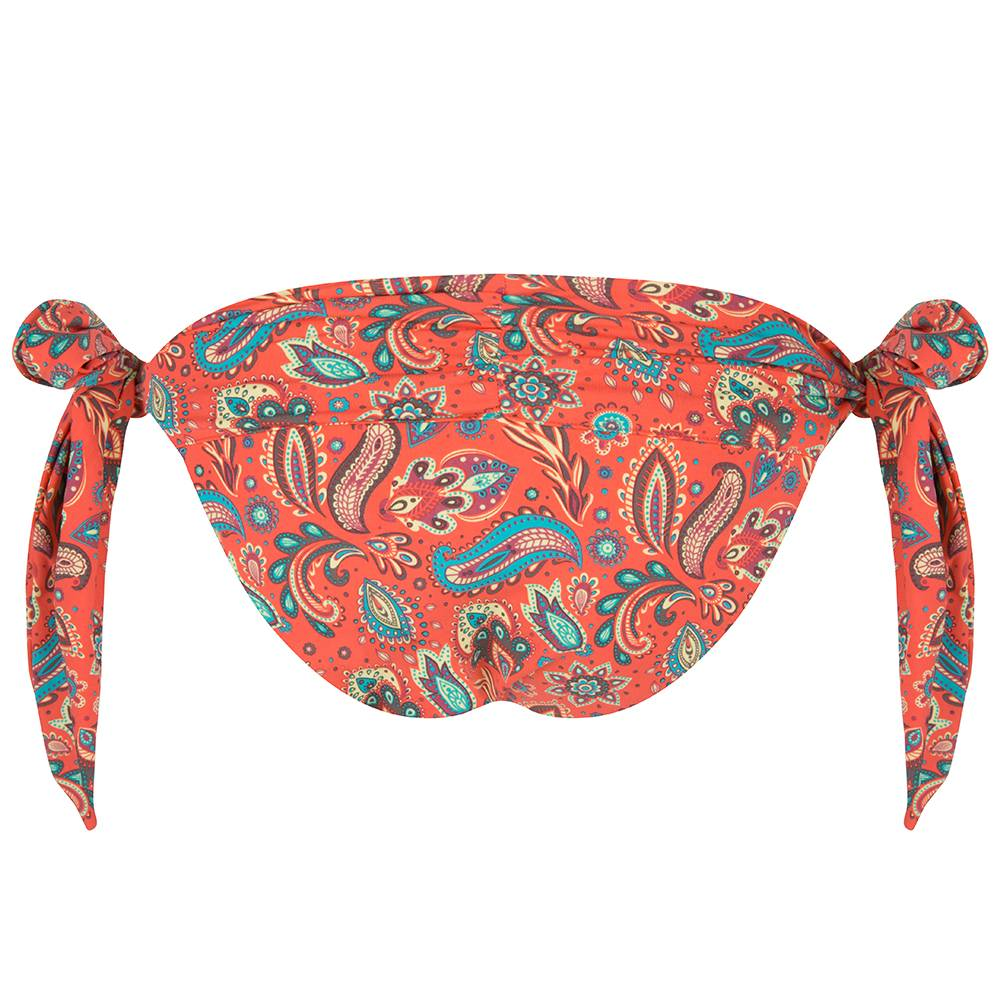 BOHO Bikini Bottum Paisley - Coral