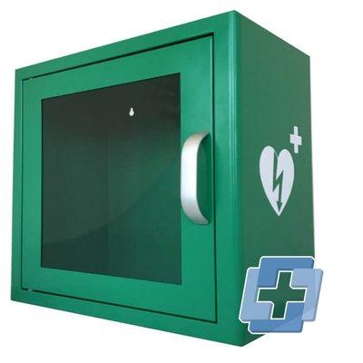 Qrs AED binnenwandkast met alarm (universeel) - Groen