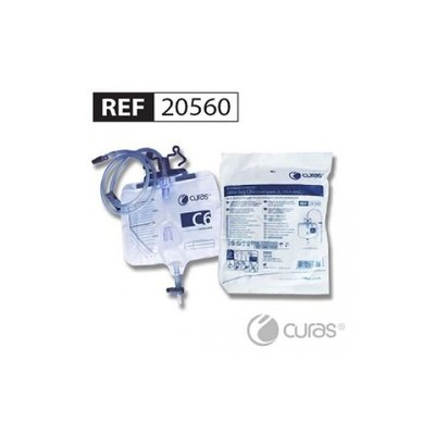 Curas Sac à urine C6 2L 110cm robinet croisé stérile/ 80pc
