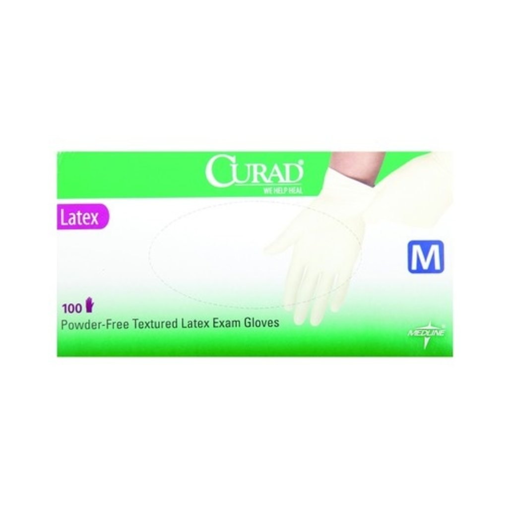 Medline Gants d'examen en latex Curad® (100pc)
