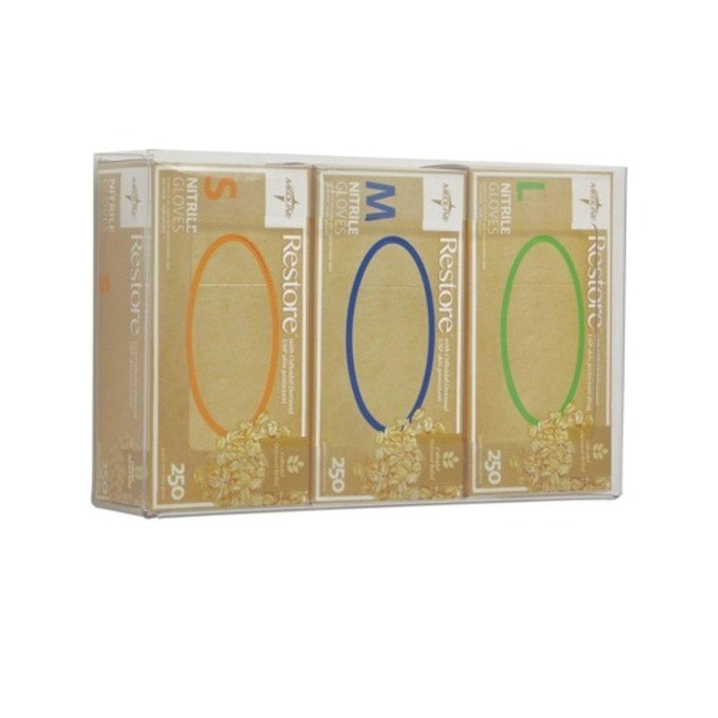 Medline Porte-boîte en plexiglas pour 3 boîtes de gants d'examen