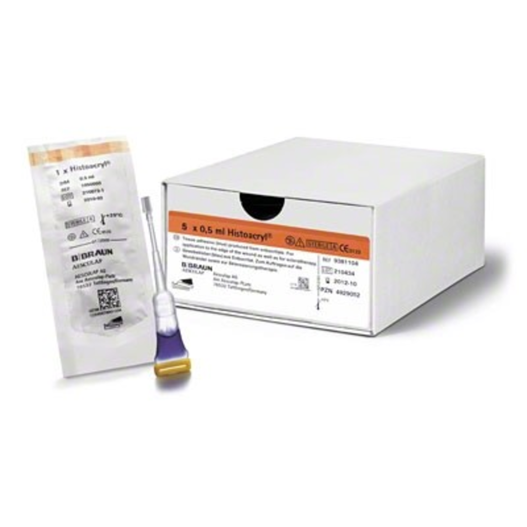 B.Braun Histoacryl® weefsellijm blauw/ 10st