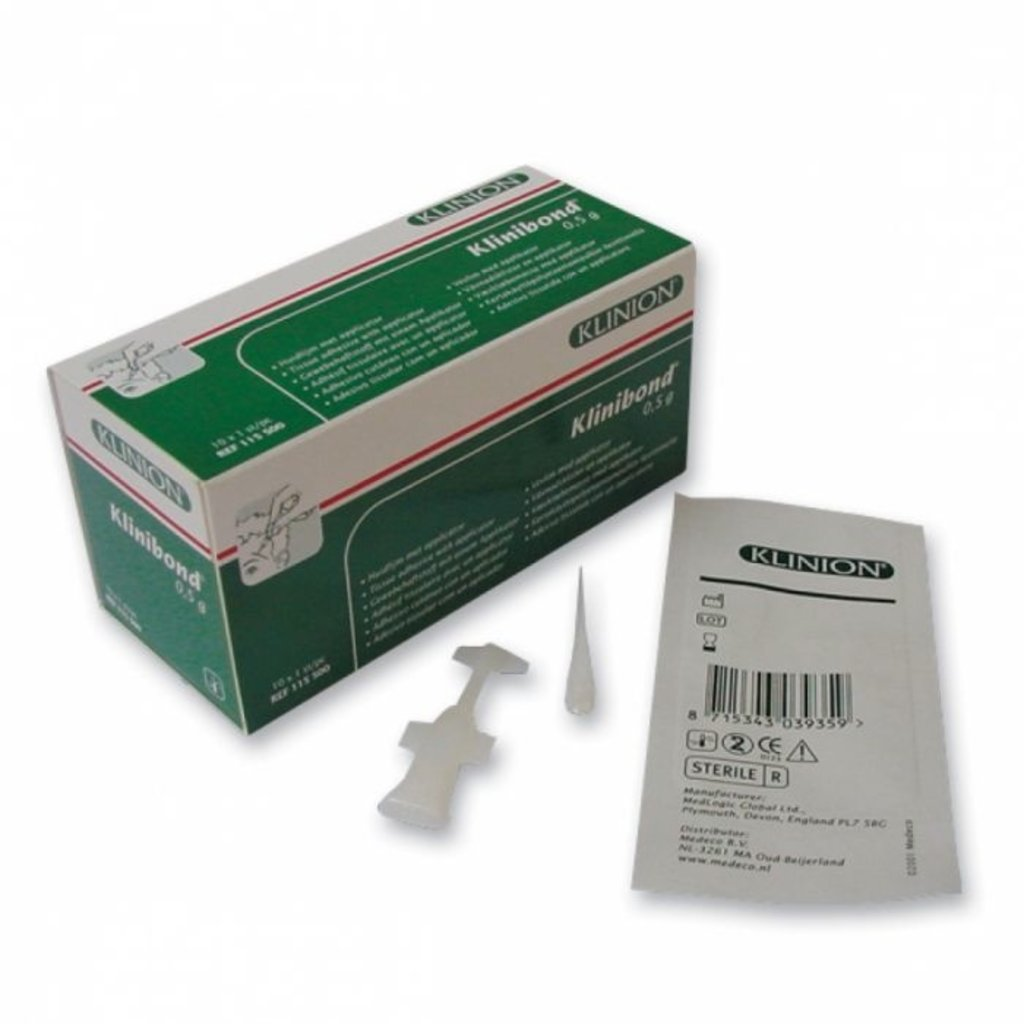 Klinibond weefsellijm 0,5gr/ 10st