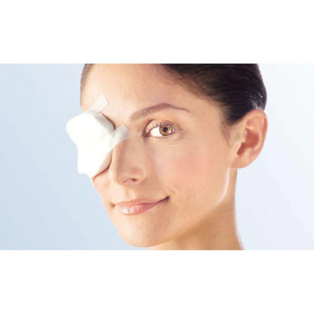 Lohmann & Rauscher Coussinets oculaires Pro-Ophta stériles 5,5 x 7,5 cm / 5 pièces