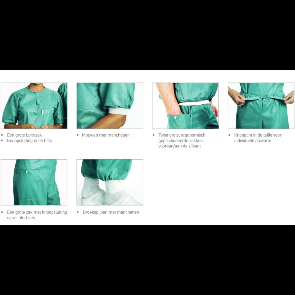 Mölnlycke Pyjamas de bloc Shirts Extra Comfort avec jerseys élastiques- BARRIER