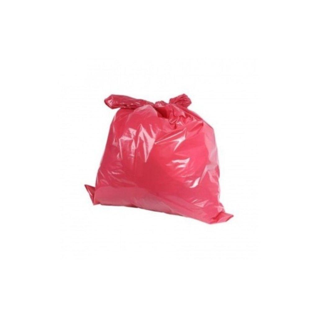 Sac poubelle 70my rouge 70 x 110cm LDPE / 20 x 10pc