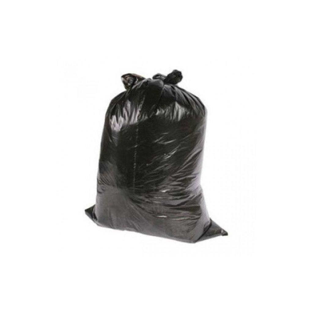 Sac poubelle LDPE 58 x 100cm noir 25pcs en rouleau / 10 x 25pc