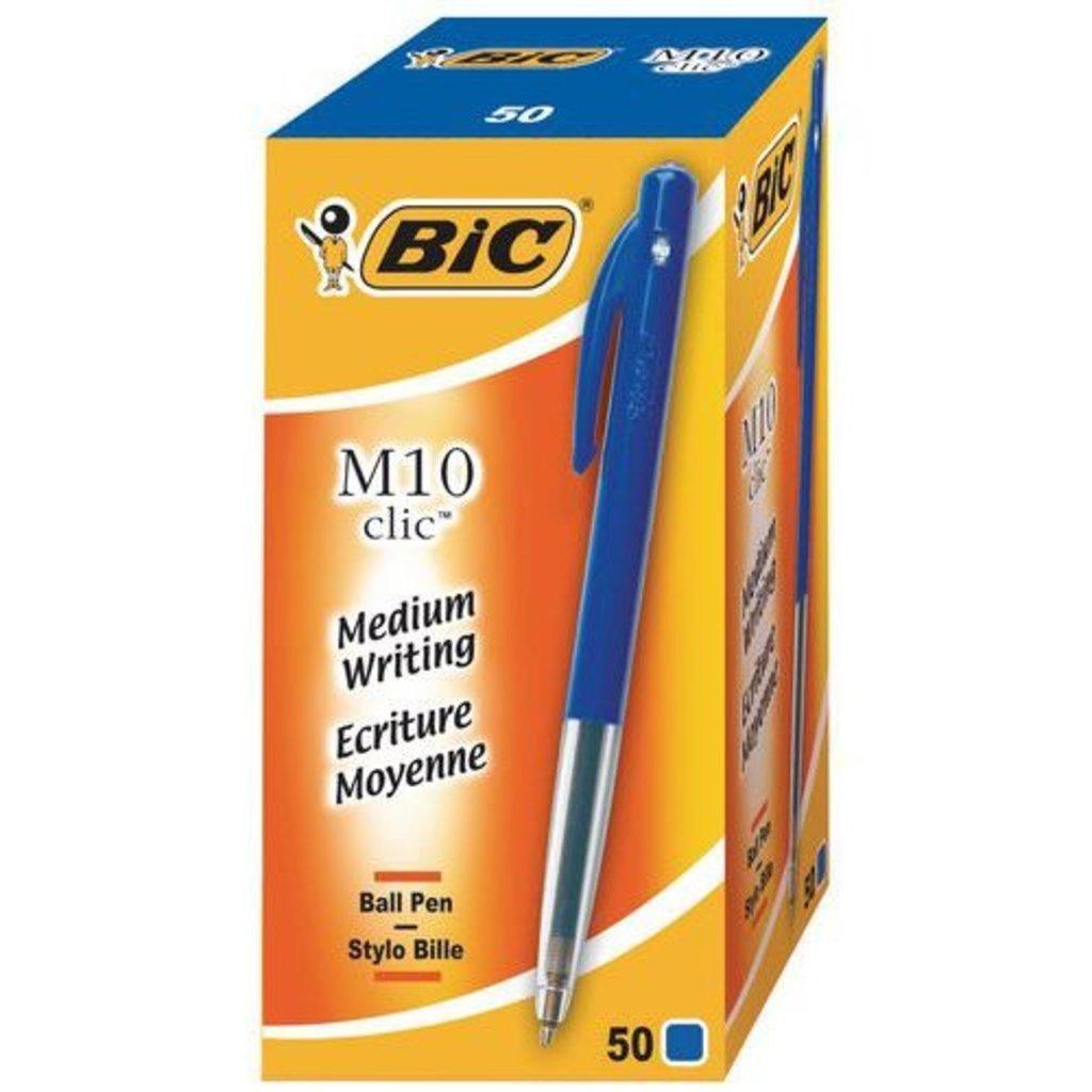 Balpen BIC M10 M blauw/ 50st