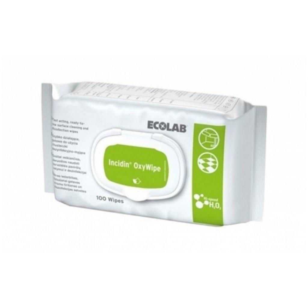 Ecolab Incidin Oxywipe Lingettes/ 6x100pc