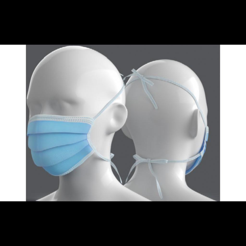 Masque chirurgical type IIR avec liens à nouer/ 50pc