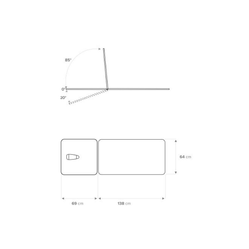 Chattanooga/ DJO Galaxy Table de traitement 2 plans