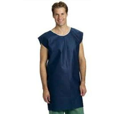 Mölnlycke Patiëntenhemd met korte mouwen - blauw (120st)